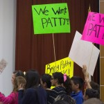 ANOTHER SAN YSIDRO CONTROVERSY — Students from Ocean View Hills Elementary school speak to the San Ysidro School District school board asking for the rehire of supervisor Patricia Pimental who was fired by Principal Matthew Pardes. 