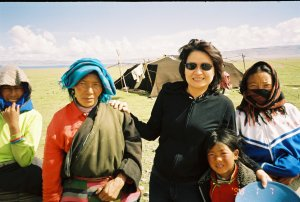 Visiting with a nomadic family in Kathmandu, Nepal.