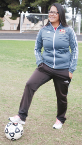 Super Sub — Carolina Soto took over the women's soccer team on short notice and led it to a second place finish in the Pacific Coast Athletic Conference. Priscilla Berumen/ Staff