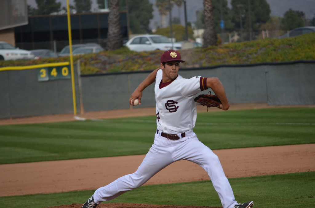 Sophomore pitcher Joey Esposito went five innings with zero earned runs in an 11-5 win against Barstow.  Rick Flores/Staff