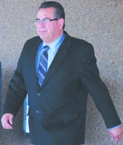 STILL ON THE HOT SEAT —  Greg Sandoval still faces sentencing. Though prison is a possibility, a district attorney said he doubted Sandoval would be incarcerated. Kristina Saunders/Staff