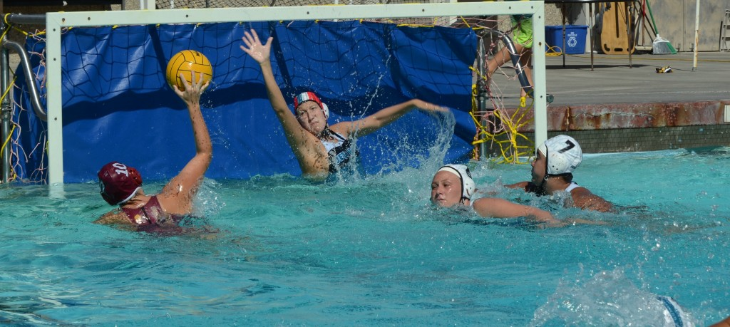 Comeback Capsized-Barbara Bartalome scores a goal in the Lady Jags 12-9 loss to the Miramar Jets.
