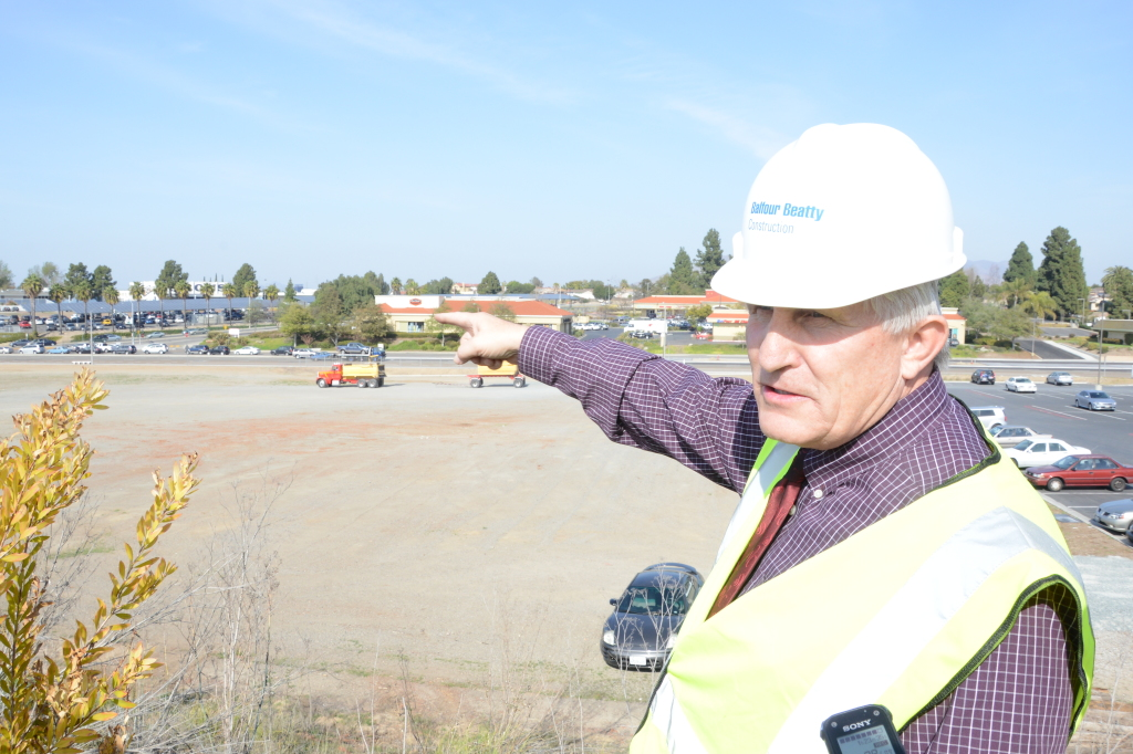 READY TO TAKE ON THE CORNER LOT —  Proposition R Bond Manager Mark Claussen has been brought in to get construction back on track. Pablo Gandara/Staff