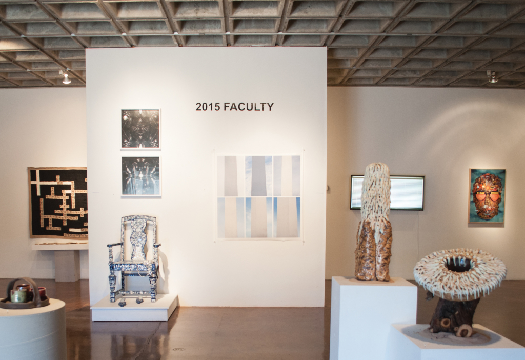 SHOWING THE WAY - The Spring 2015 Faculty Art Exhibition was an impressive collection of creative curiosities. PHOTO BY April Abarrondo