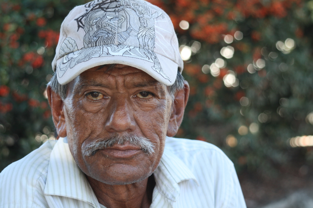"""Jorge"" a 67-year-old migrant worker, rarely smiles because he has no teeth and rarely finds work because he is considered to old."
