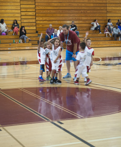 Southwestern's assistant men's basketball coach Kyle Colwell goes miniature and helps out as a coach for a Chula Vista youth team