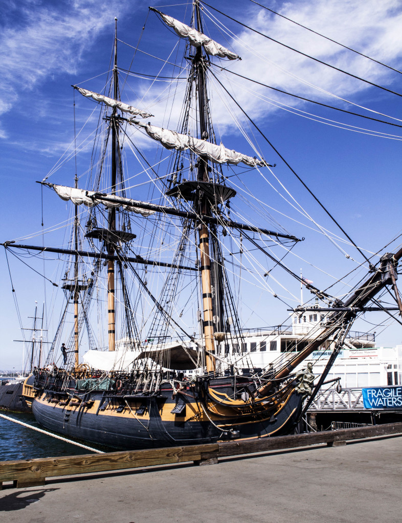 "Star of ""Master and Commander"" rests at the Maritime museum in the San Diego Harbor. Photo by  Marianna Saponara"