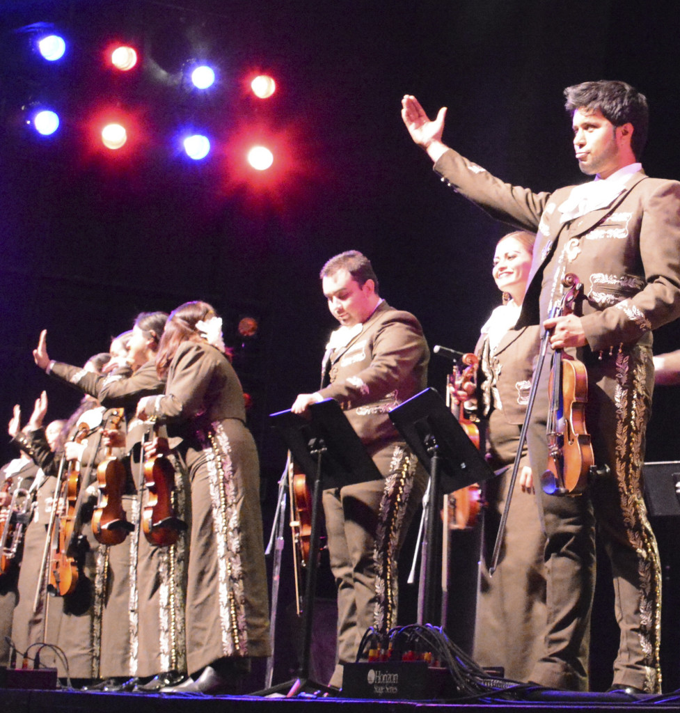 Mariachi Garibaldi dazzle Mayan Hall crowds shortly after returning from India.
