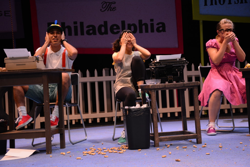 """Southwestern College students perform """"All in the Timing,"""" in Mayan Hall theatre. (photo credit: Sergio Esparza)"""