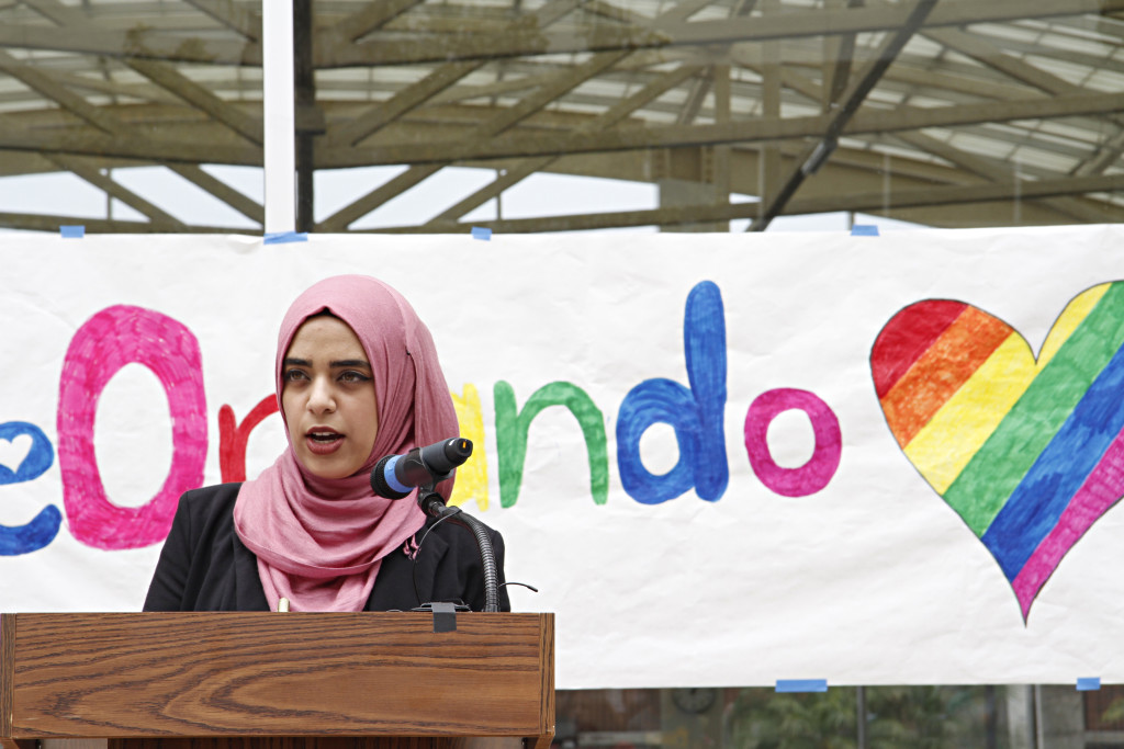 ASO President Mona Dibas spoke about love and everyone's duty to fight hatred.