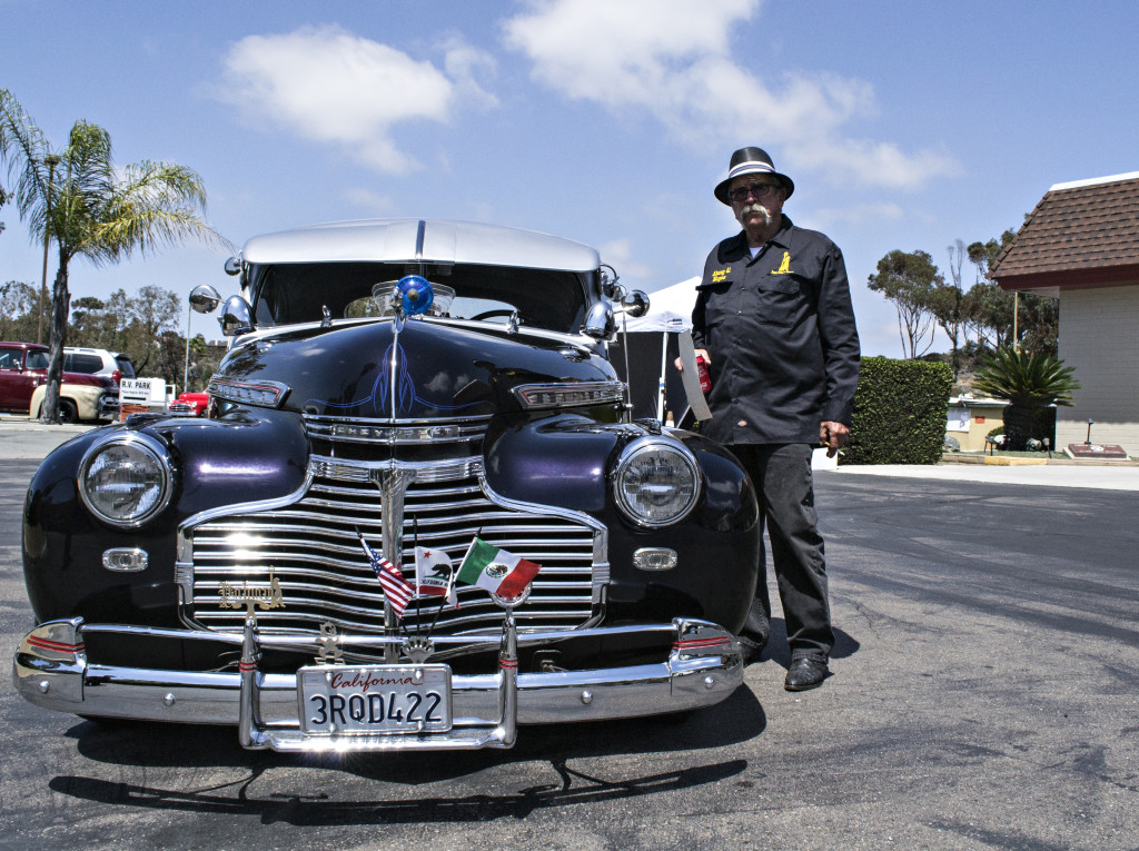 Reyes Samaniego and his 1941 Chevy.