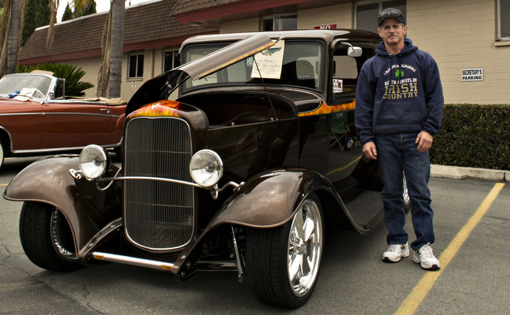 Joe Bane and his 1932 Ford Victoria.